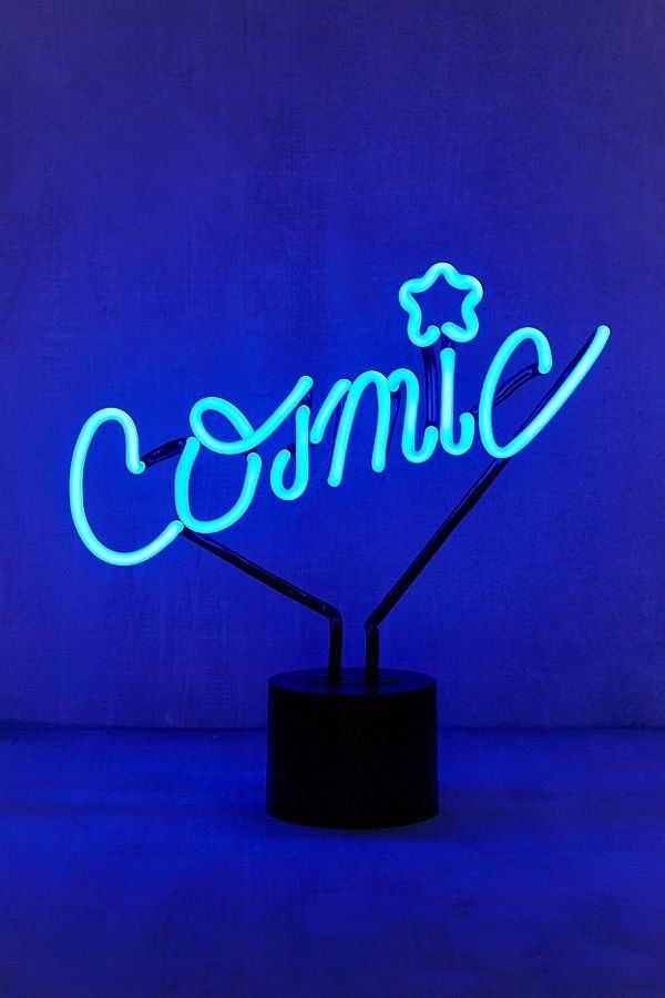 Cosmic Neon Sign Table Lamp Blue Aesthetic Neon Signs Everything Is Blue