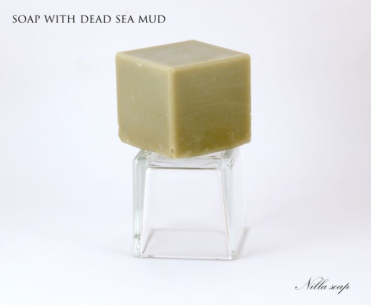 Soap made with dead sea mud. Another great example of soap made for people with oily and combination skin.