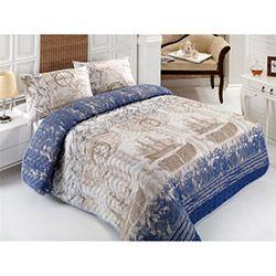 Eponj Home Pusula Çift Kişilik Yatak Örtüsü Takımı - Koyu Mavi