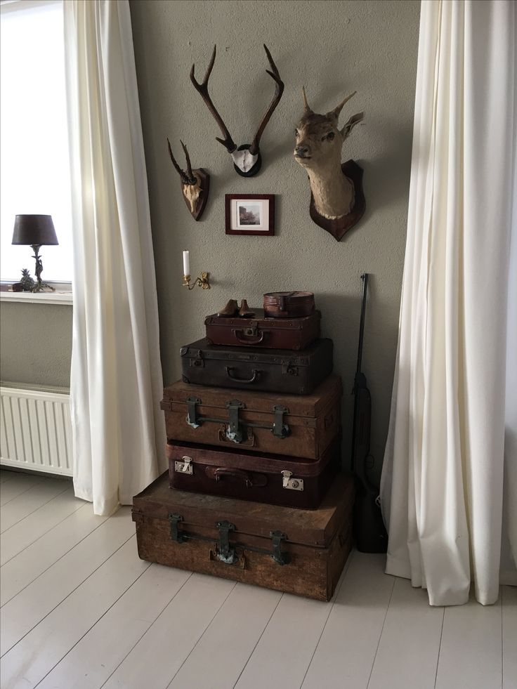 Stil leven met koffers