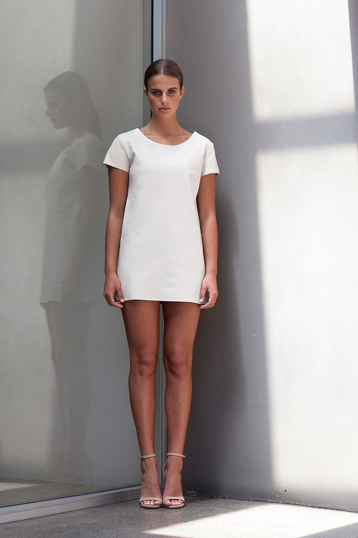 A stylish dress perfect to dress up or down and made using the most luxurious of leather, the Sky Tee Dress and be worn effortlessly from day to night