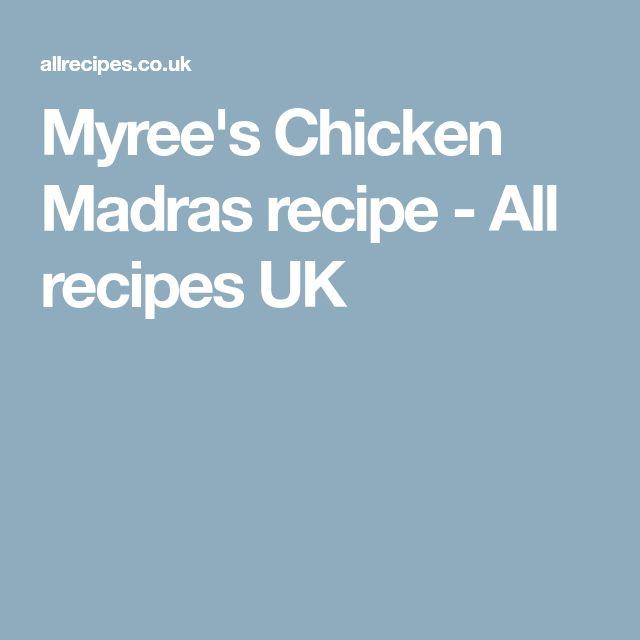 Myree's Chicken Madras recipe - All recipes UK