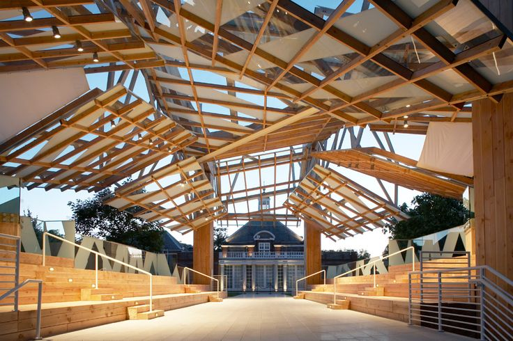 Frank Gehry's chunky wooden pavilion from 2008 is the subject of our next exclusive video with Serpentine Gallery director Julia Peyton-Jones
