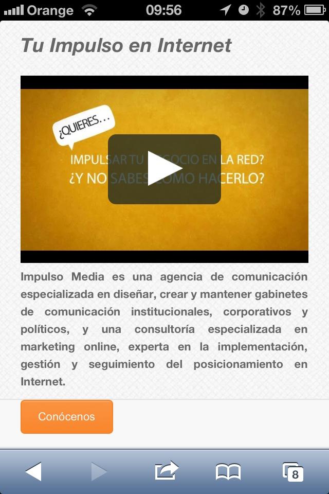 La web de Impulso Media, agencia de comunicación y marketing online en Valencia, ya casi está aquí.