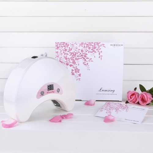 PROMOTION Lumsing USLS-1801 18W White LED Gel & Shellac Curing Nail Dryer/Lamp/Light, Upgraded with Digital Countdown Timer 30s-90s, SPA Equipment by Lumsing. Save 50 Off!. $99.99. Normal LED Lamp's life is 35,000-45,000 hours (that is 5 years+ of non stop working). 2012 Brand New 18W LED Nail Gel Cure Lamp with CE certification. Does not produce heat, no harm to the hands and getting dark. New digital countdown timer conveniently tracks the remaining time. Light use of high...