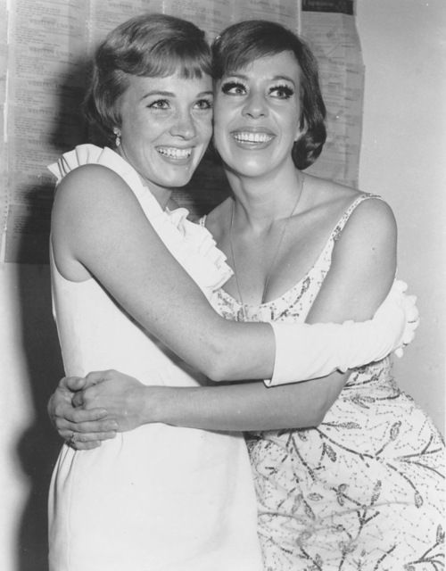 Julie Andrews and Carol Burnett these two are the best of friends an I have my best friend who when were together were just as crazy as them two even more lol at Alanna Torres :)
