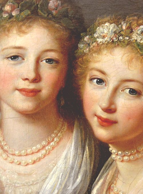 Grand Duchesses Alexandra and Elena Pavlovna of Russia, the eldest daughters of Tsar Paul I. Both girls died a tragic death, from childbirth in their late teens. Empress Alexandra Feodorovna of Russia didn't name any of her daughters Alexandra because the name was considered to be bad luck.
