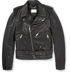 SandroSlim-Fit Leather Biker Jacket
