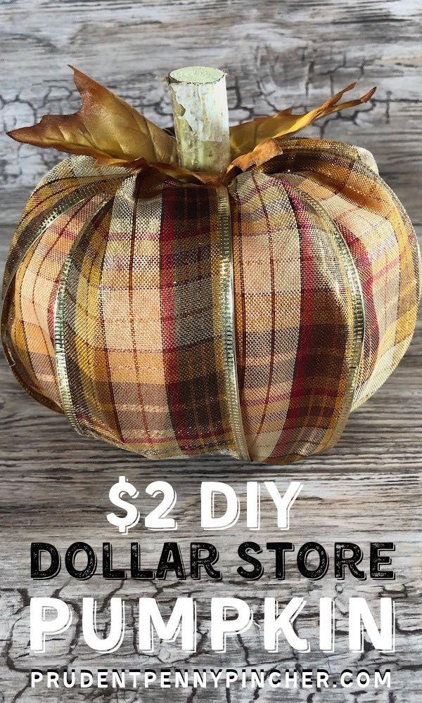 $2 DIY Dollar Store Fall Pumpkin – Prudent Penny P…