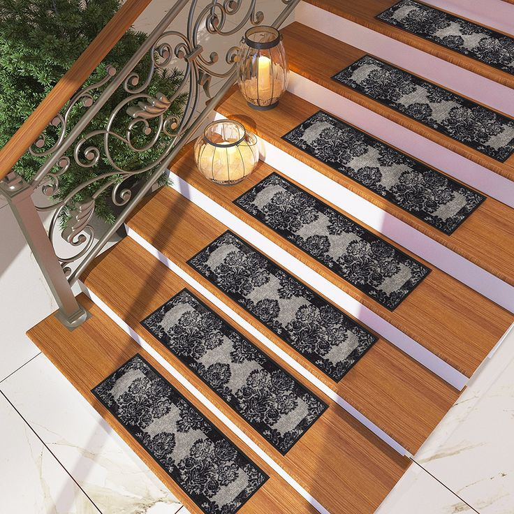 Best 25 modern stair tread rugs ideas on pinterest - Non skid treads for exterior stairs ...