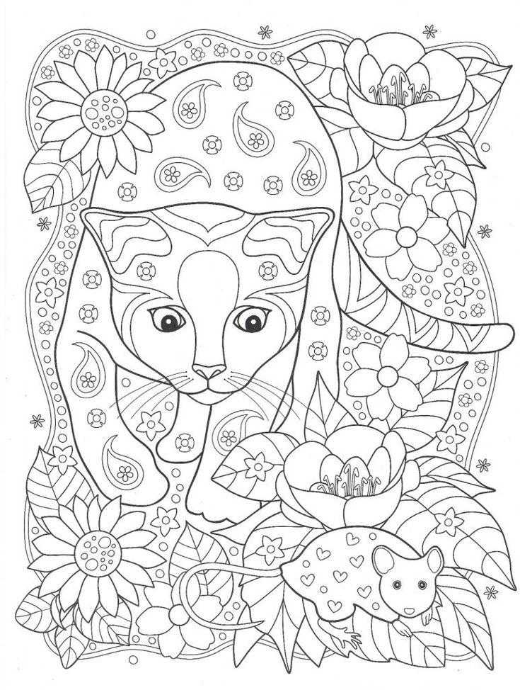 Классные раскраски «Кошка и мышка», которые вы можете ...