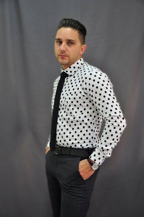 Men's Cotton  Shirt. Trendy  Men's Clothing. Casual Shirts For Men.   Men's Polka Shirt
