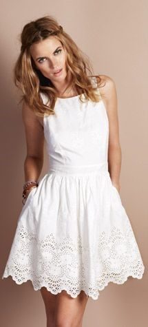 todas adoran éstas imagenes de vestidos blancos cortos sencillos