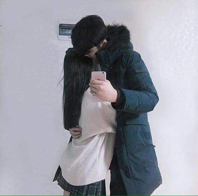 korean, couple, kiss, ulzzang, korea