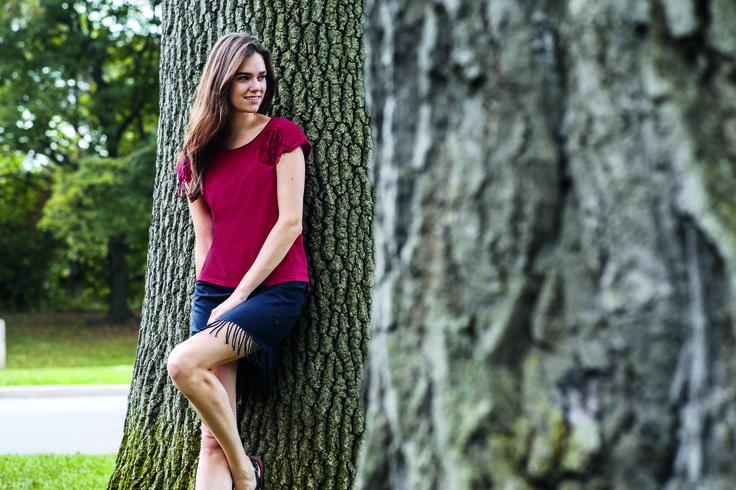 So schön kann Biomode sein - Fransen-Shirt und Fransen-Rock aus Biobaumwolle. Nachhaltig und made in Germany.