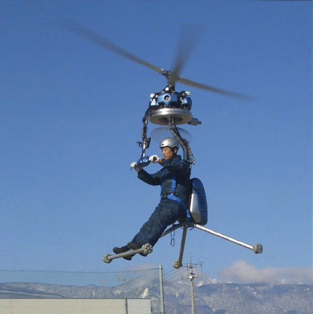 One Man Helicopter on Design You Trust