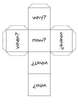 This freebie is a printable die that can be used to reinforce the common core standard dealing with answering questions such as who, what, when, wh...