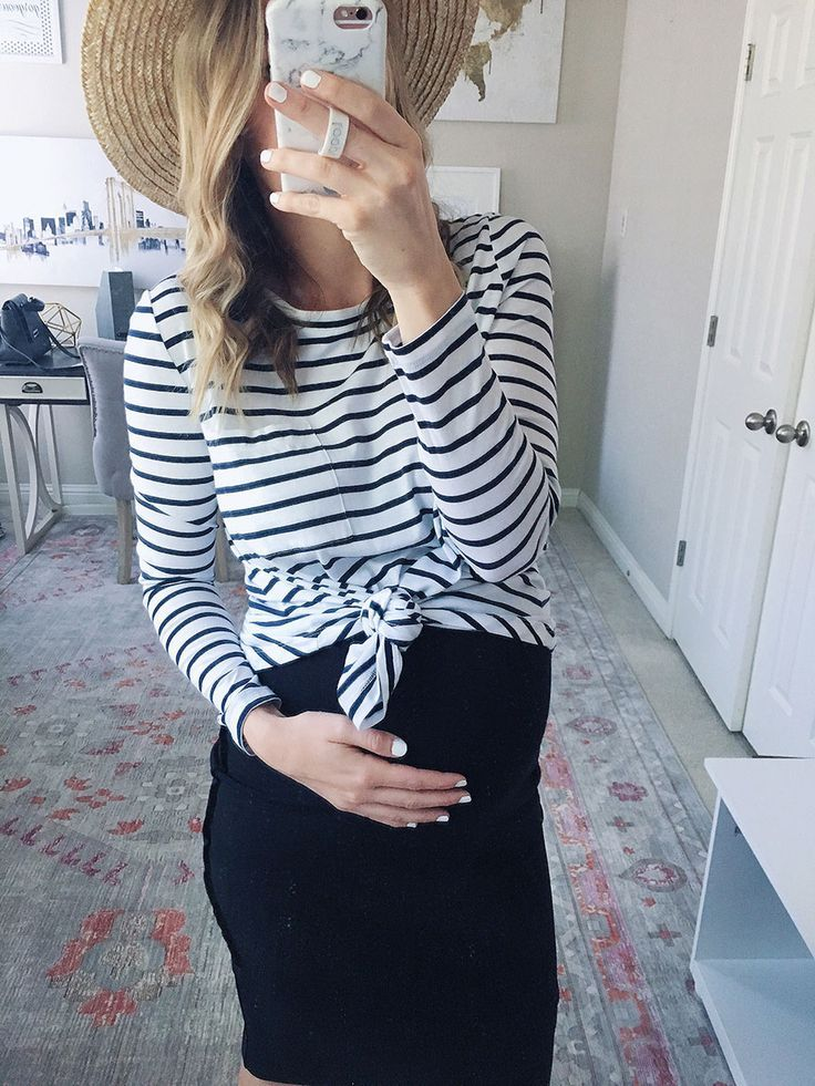 711463ccc26 striped maternity top with a midi skirt, maternity style, bumpdate, nursing  must haves - life by lee