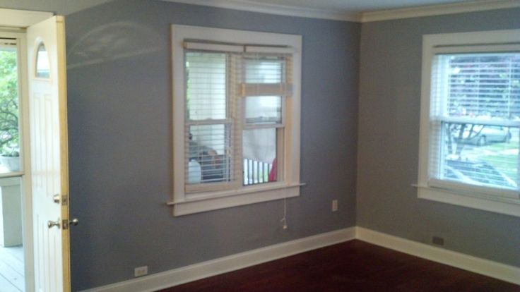 Living Room Custom Window And Door Trim Walls Painted