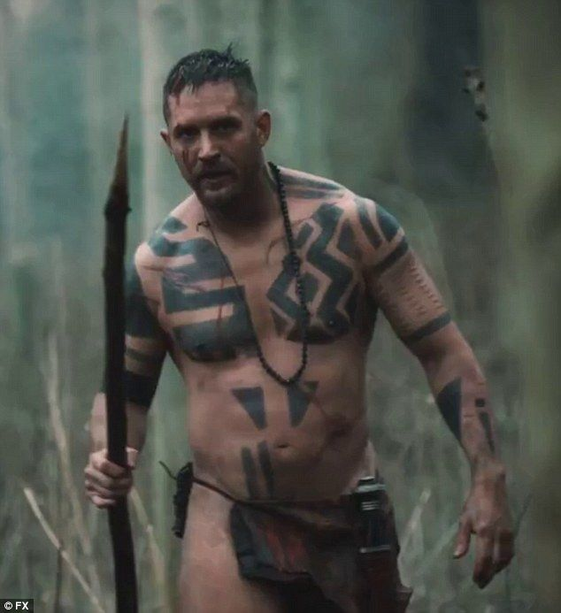 Naked ambition: Tom Hardy returns to England after a spell as a savage in Africa in the hope of starting a shipping company in the first trailer for Taboo