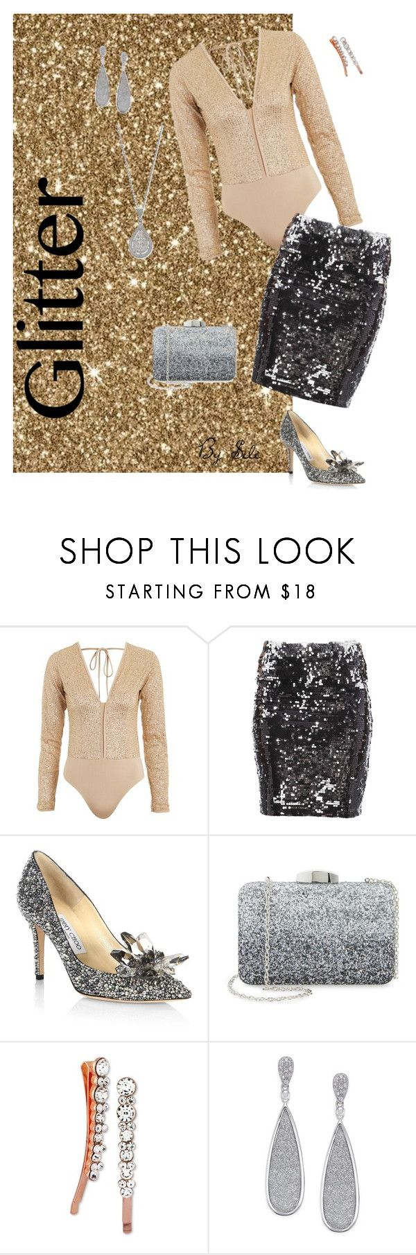 """""""All that glitters! - That's Party"""" by selene-cinzia ❤ liked on Polyvore featuring WYLDR, Stylista Select, Jimmy Choo, Nordstrom and Say Yes to the Prom"""