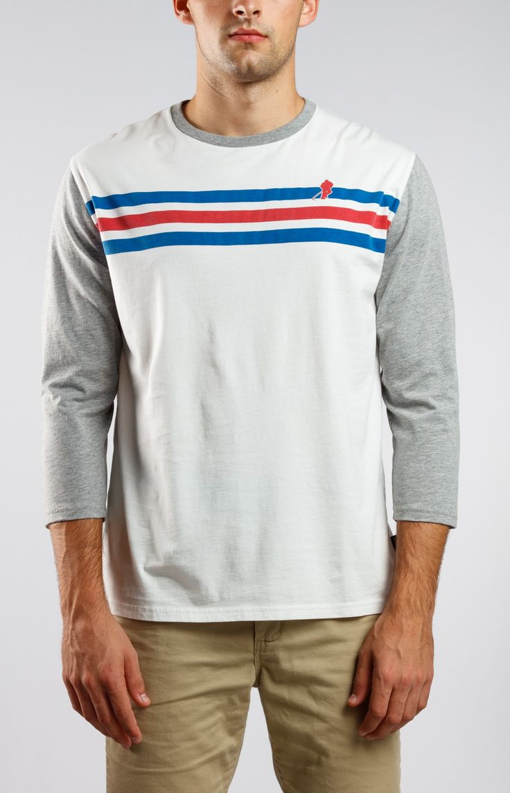 Two Line Pass Mens Gongshow White Hockey Shirt | GONGSHOW Hockey Lifestyle Apparel