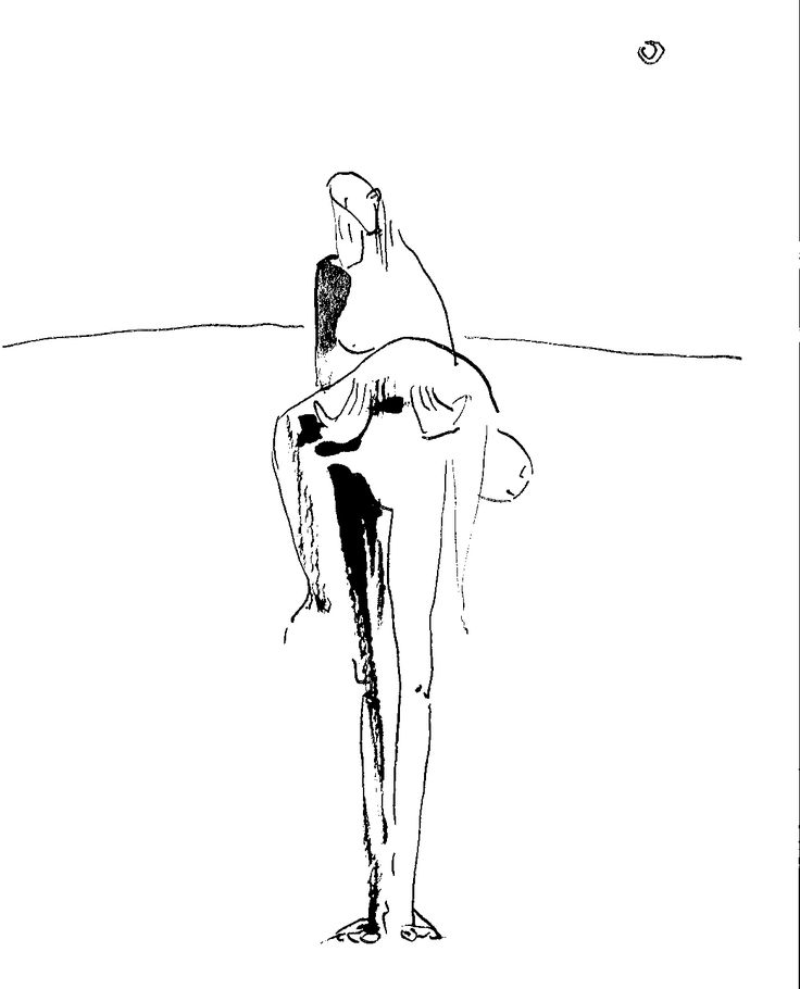Pietat de Sarajevo - tinta // Piety of Sarajevo - ink  by Lau Feliu #Dibuix en #tinta i #llapis #Drawing in #ink and #pencil