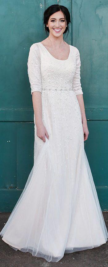 1338 Best 3/4 Sleeve Wedding Dresses. Images On Pinterest