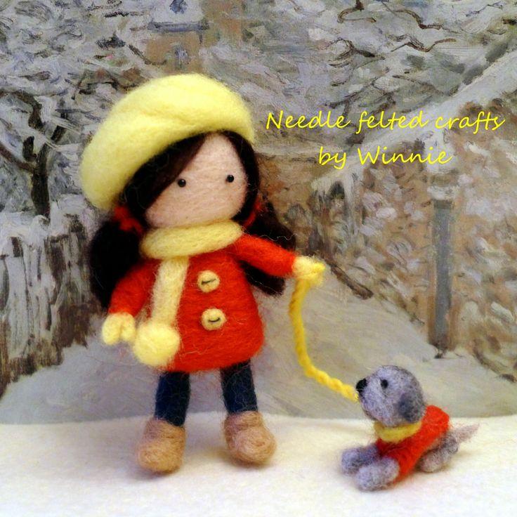 Winter doll- walking the dog https://www.etsy.com/shop/FunFeltByWinnie