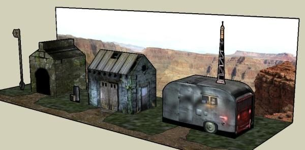Paper Models For RPG Games And Dioramas - by Barrow Hill -- Three cool paper models that are perfect for RPG Games and dioramas, by British website Barrow Hill.