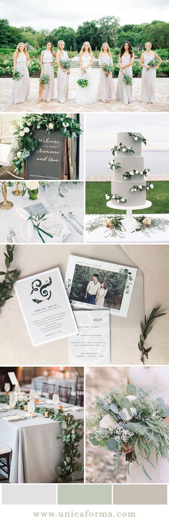 modern grey and black ampersand wedding invitation