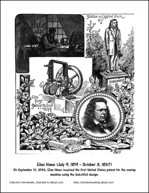 elias howe and the sewing machine essay But elias howe changed all that born on july 9, 1819, howe came up with another way to make clothes he patented the first practical american sewing machine in 1846.