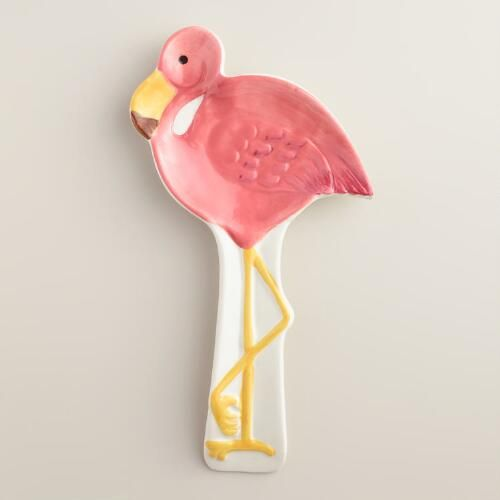 One of my favorite discoveries at WorldMarket.com: Ceramic Flamingo Spoon Rest