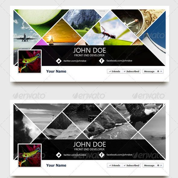 34 Creative Facebook Timeline Cover Templates