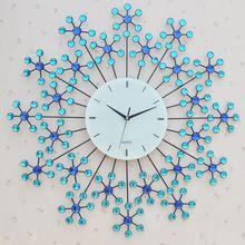 salon horloge murale créatif mode art clock horloge murale en fer forgé gros diamant montres livraison gratuite mute personnalité(China (Mainland))