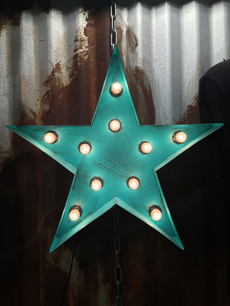 Rustic Turquoise Star Light