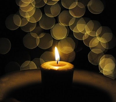 """New Year's Eve Tradition:  on New Year's Eve light a bayberry candle (votive works great) and let it burn until it goes out on its own: """"A Bayberry candle burned to the socket, brings health to the home and wealth to the pocket.""""  We do this every year."""