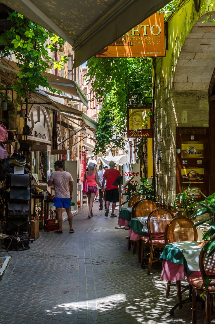 Shopping in Corfu, Greece