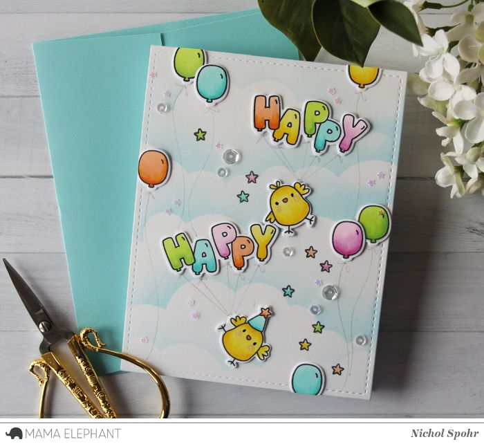 mama elephant | design blog: STAMP HIGHLIGHT: Celebration Balloons