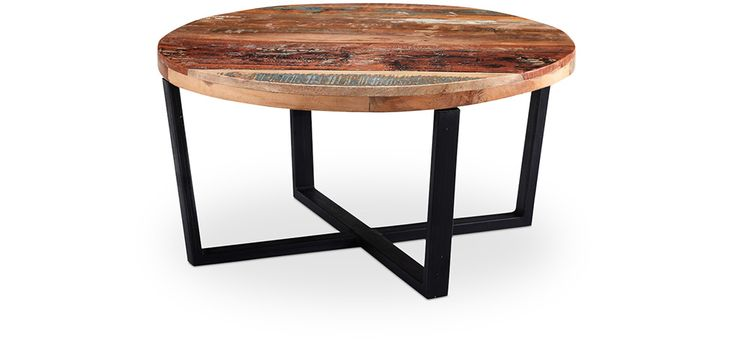 Table basse Vintage en bois recyclé - Seaside