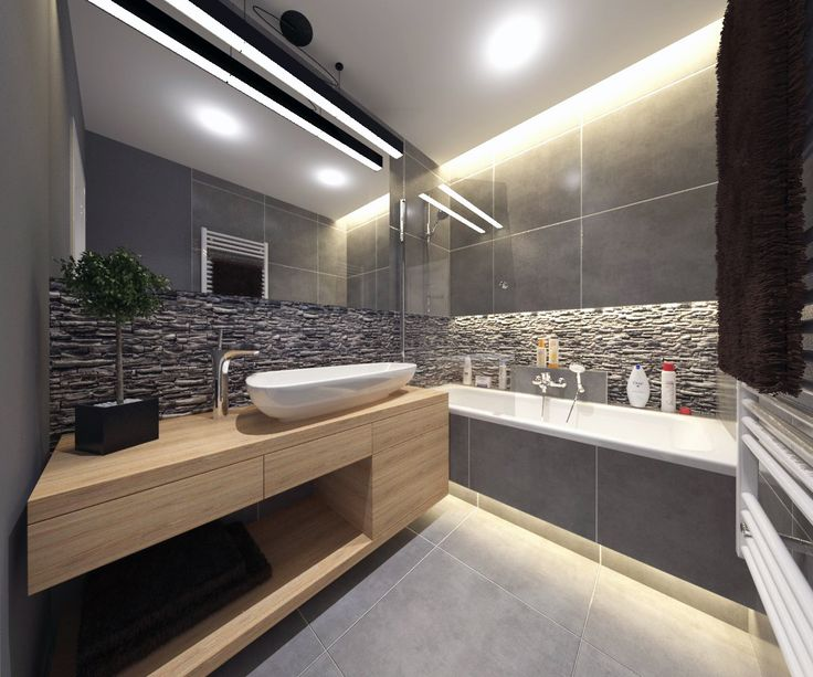 #bathroom #anthracite #stone #grey #wood on Behance