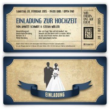 #Hochzeitseinladung im #Vintage Stil. Mit abgerundeten Ecken, Perforation (Abriss) und eigenem Text. Auf http://www.kartenmachen.de/shop/einladungskarten-zur-hochzeit/hochzeitskarten-vintage.html