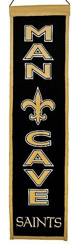 New Orleans Saints Wool Man Cave Banner – Licensed NFL Football Gift