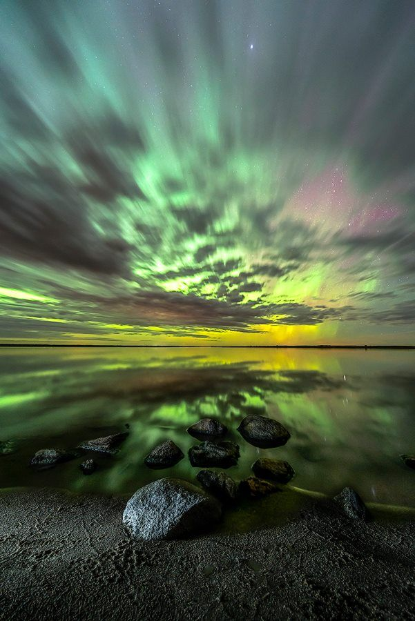 Aurora Borealis, Bismarck, North Dakota by Marshall Lipp