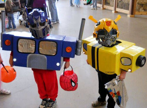 Transformer costumes out of boxes!!  Fun project!