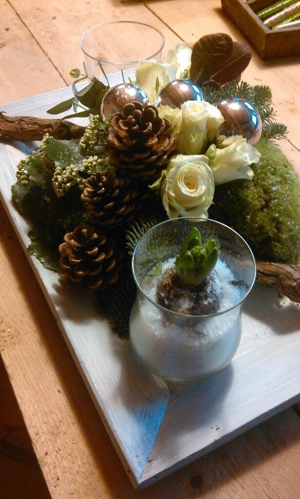 kersttafelstuk Workshop volgen www.bloemenschikschuur.nl