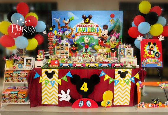 Mickey Mouse Clubhouse Backdrop Banner por Partyprintkk en Etsy
