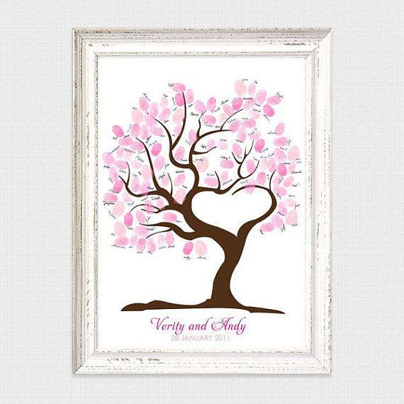 Baum der Liebe Fingerabdruck Gast Buch druckbare von idoityourself