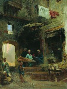 Cairo court - (Konstantin Makovsky)