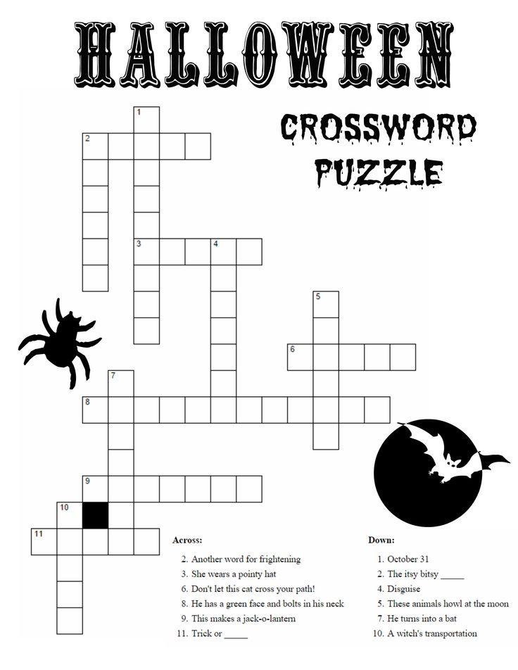 0a00cf3f1b9d8f31dc89ace74413e290 crossword puzzles halloween activities